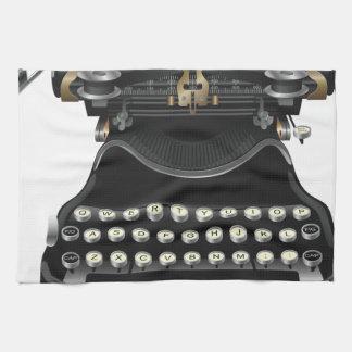 Máquina de escribir antigua toallas de mano