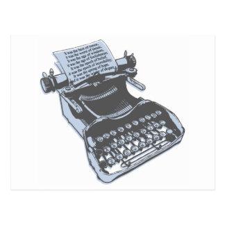 Máquina de escribir antigua postales