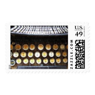 Máquina de escribir antigua sello
