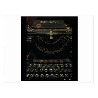 Máquina de escribir antigua tarjetas postales