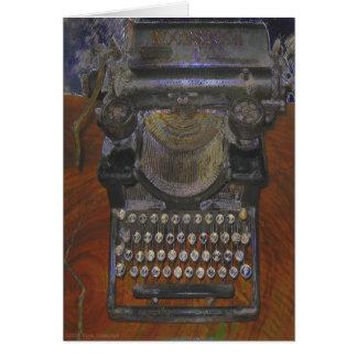 Máquina de escribir antigua vieja flaca tarjeta de felicitación