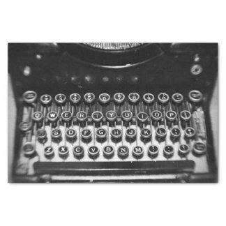 Máquina de escribir blanco y negro del vintage papel de seda pequeño