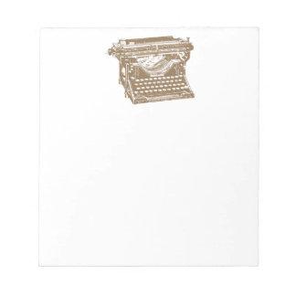 Máquina de escribir bloc de notas