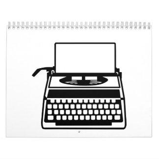 Máquina de escribir calendarios