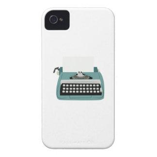 Máquina de escribir Case-Mate iPhone 4 cobertura