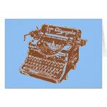 Máquina de escribir de Brown del vintage Felicitacion