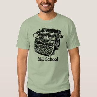 Máquina de escribir de la escuela vieja playera