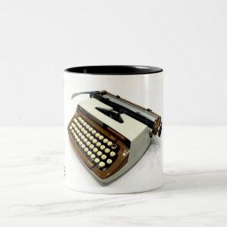Máquina de escribir de la obra clásica 12 de la taza dos tonos