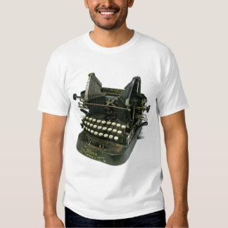 Máquina de escribir de Oliverio #3 del vintage Playera