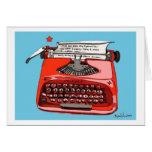 Máquina de escribir de Starfire de la luz de las e Felicitacion