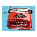 Máquina de escribir de Starfire de la luz de las e Tarjetas Postales