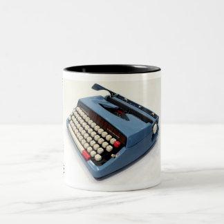 Máquina de escribir de Webster XL-747 Taza De Dos Tonos