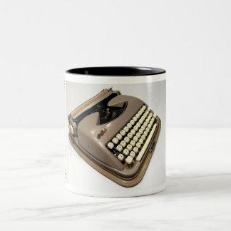 Máquina de escribir del acero del col taza de dos tonos