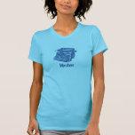 Máquina de escribir del azul del vintage camiseta