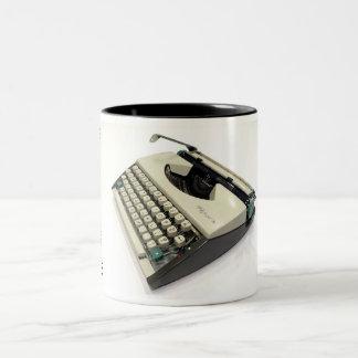 Máquina de escribir del portable de Olympia De Taza Dos Tonos