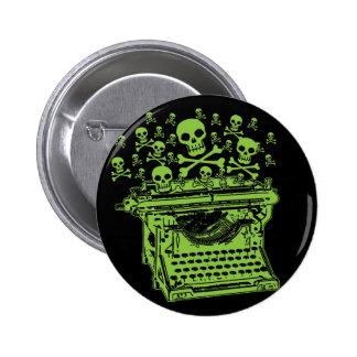 Máquina de escribir del veneno pin redondo de 2 pulgadas