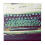 Máquina de escribir del vintage azulejos