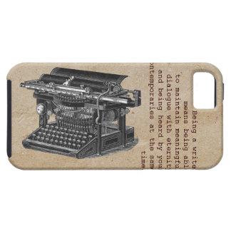 Máquina de escribir del vintage con el texto iPhone 5 cárcasas