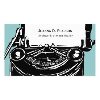 Máquina de escribir del vintage del escritor plantillas de tarjetas personales