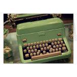 Máquina de escribir del vintage felicitaciones