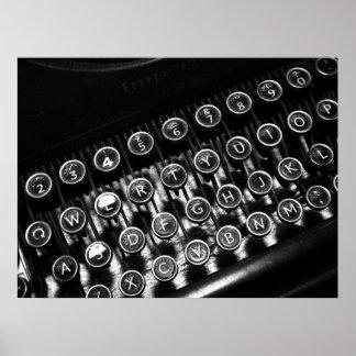 Máquina de escribir del vintage impresiones