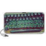 Máquina de escribir del vintage notebook altavoces