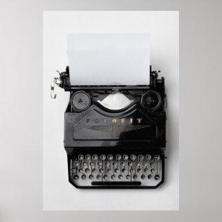 Máquina de escribir del vintage póster