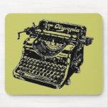 Máquina de escribir del vintage tapete de raton