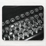 Máquina de escribir del vintage tapetes de ratón