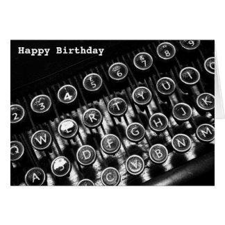 Máquina de escribir del vintage tarjeton