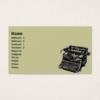 Máquina de escribir del vintage tarjeta de negocios