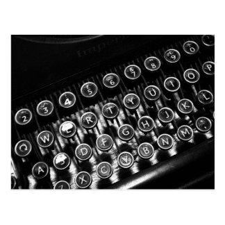 Máquina de escribir del vintage tarjeta postal
