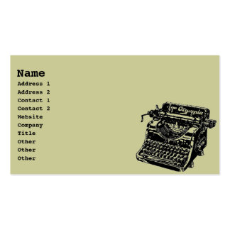 Máquina de escribir del vintage tarjetas de visita