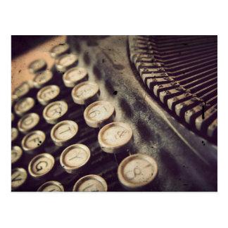 Máquina de escribir del vintage tarjetas postales
