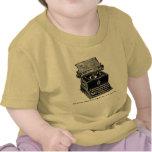 Máquina de escribir, el Fox rápido de Brown… Camisetas