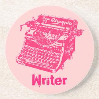 """Máquina de escribir """"escritor """" del vintage posavaso para bebida"""