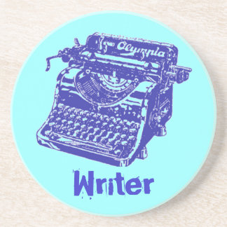 """Máquina de escribir """"escritor """" del vintage posavasos cerveza"""