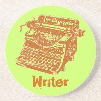 """Máquina de escribir """"escritor """" del vintage posavasos de arenisca"""
