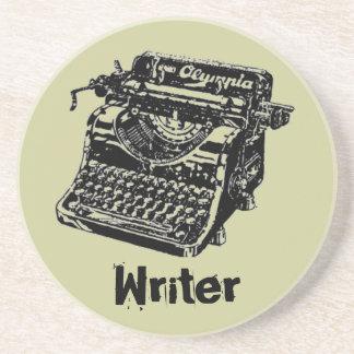 """Máquina de escribir """"escritor """" del vintage posavasos diseño"""