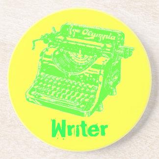 """Máquina de escribir """"escritor """" del vintage posavasos manualidades"""