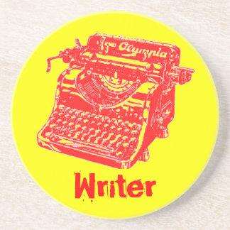 """Máquina de escribir """"escritor """" del vintage posavasos para bebidas"""