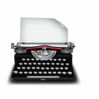 Máquina de escribir imán fotoescultura