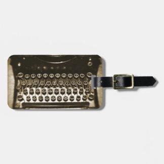Máquina de escribir etiquetas de maletas