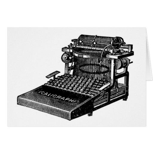 Máquina de escribir felicitacion