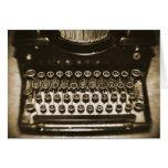 Máquina de escribir felicitación