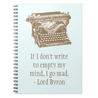 Máquina de escribir libreta espiral