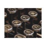 Máquina de escribir lona envuelta para galerias