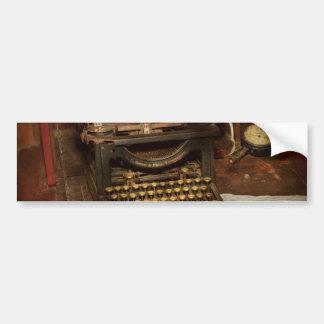 Máquina de escribir - mi oficina de los jefes pegatina para auto