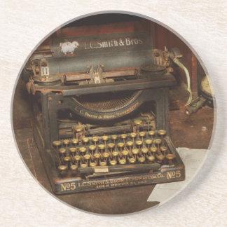 Máquina de escribir - mi oficina de los jefes posavasos de arenisca