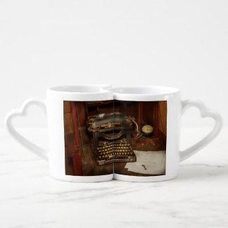 Máquina de escribir - mi oficina de los jefes set de tazas de café